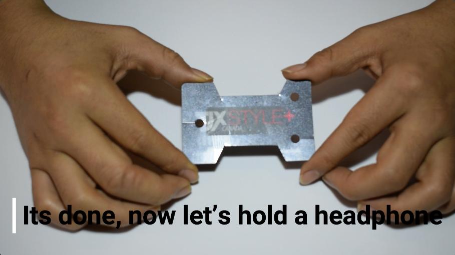 これで手作りイヤホンホルダーの完成
